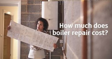 How much does boiler repair cost? Picture of a woman reading a boiler manual