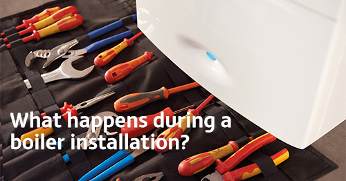 What happens during a boiler installation?