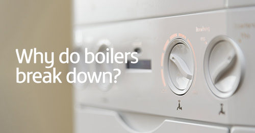 Image of boiler with 'why do boilers break down' super imposed