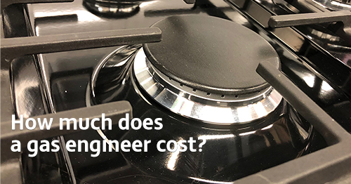 Picture of a gas hob ring with 'gas engineering - how much?' super imposed