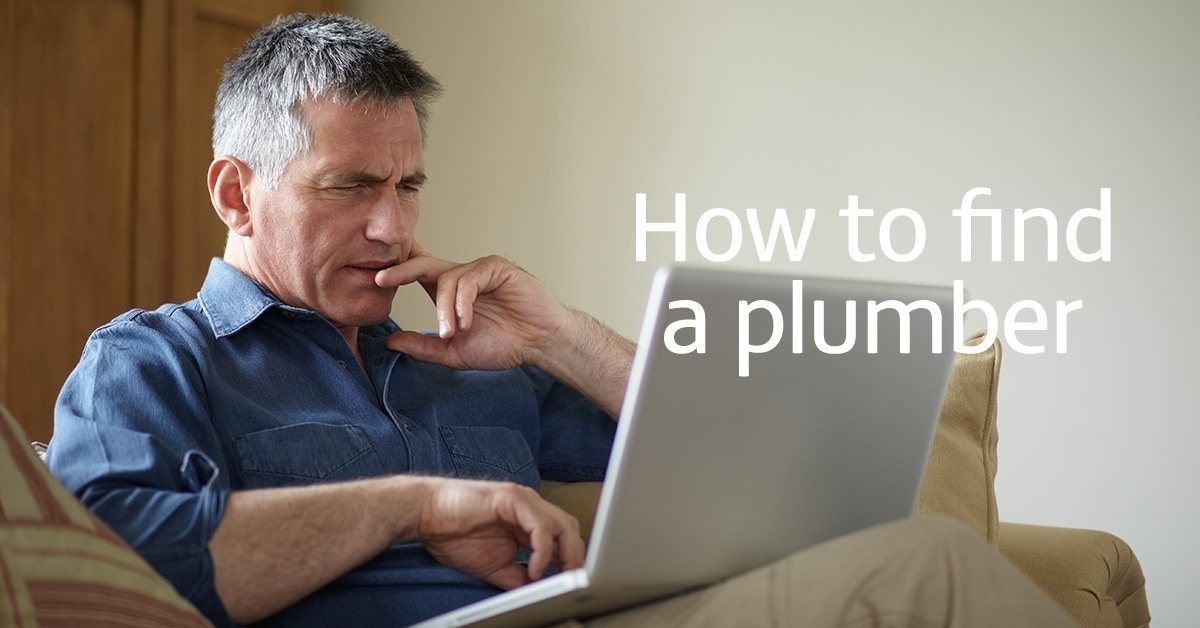 Man struggling to find a plumber online