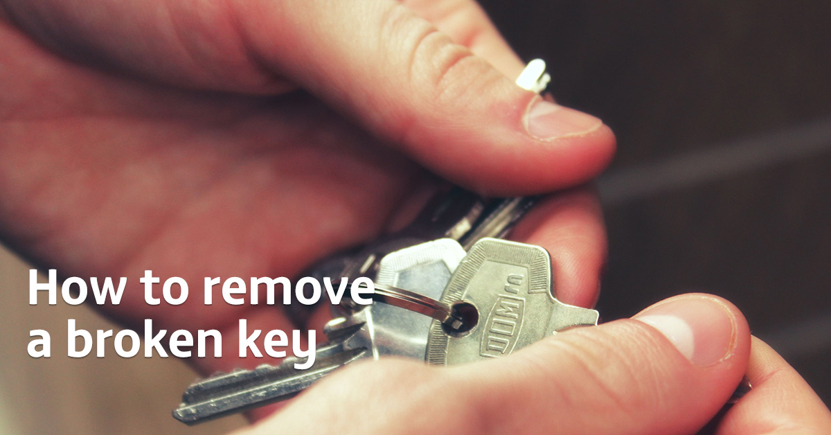 How to get a broken key out of a lock