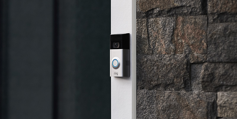 Installed Ring doorbell