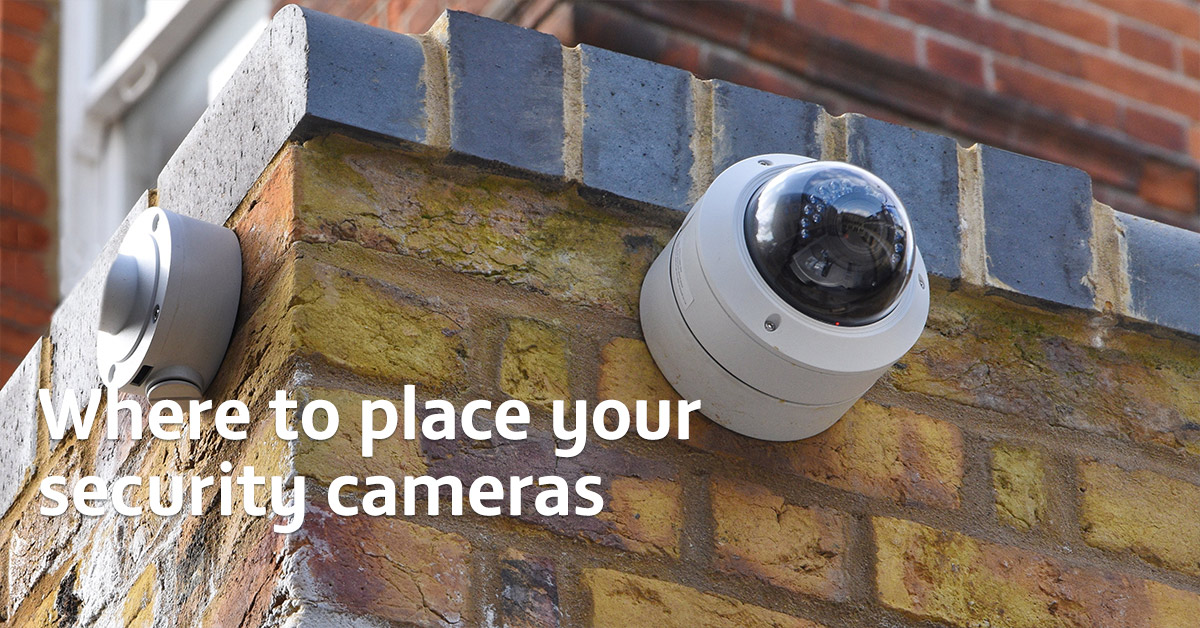 Where to place security cameras around your home