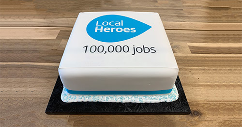 Local Heroes 100,000 jobs listing