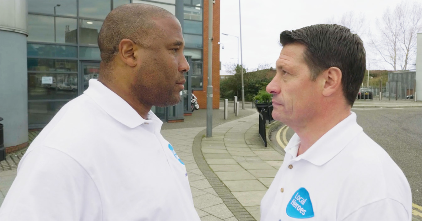 Image of John Barnes and Tony Cottee face off