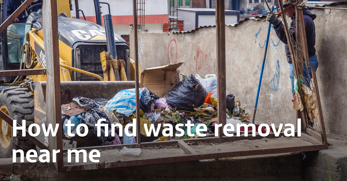 How to find waste removal near me