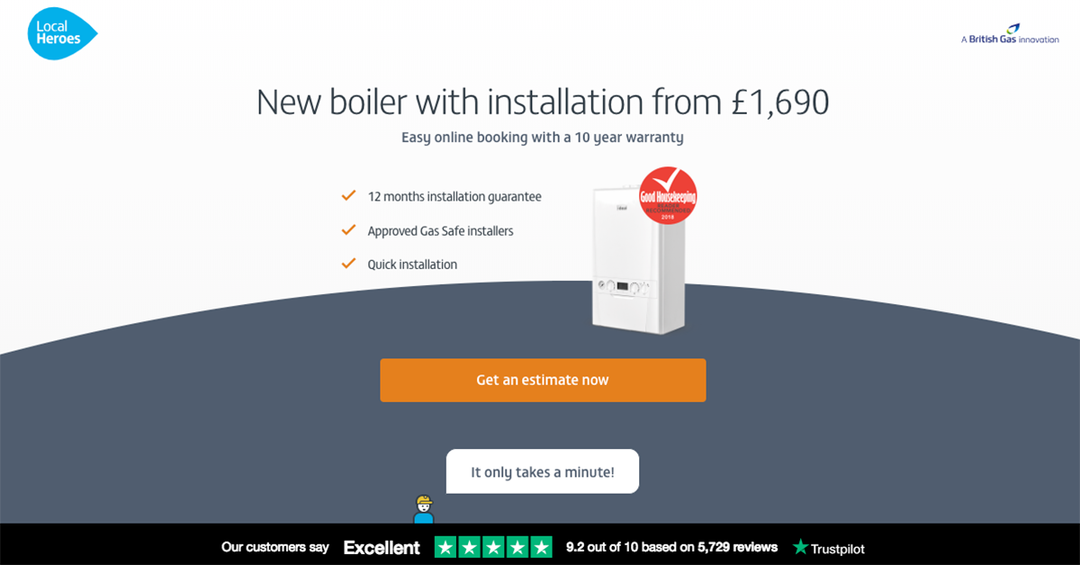 Local Heroes new boiler and installations page