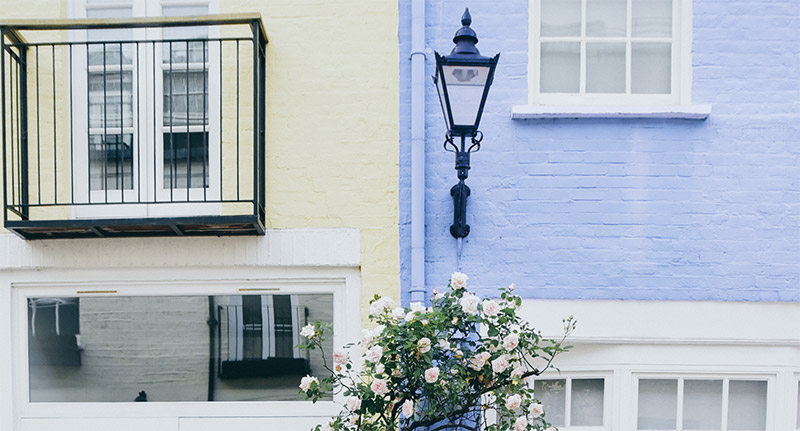 Picture of colourful homes in the UK
