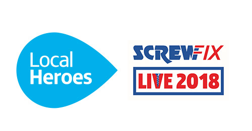 Local Heroes with the Screwfix Live logo