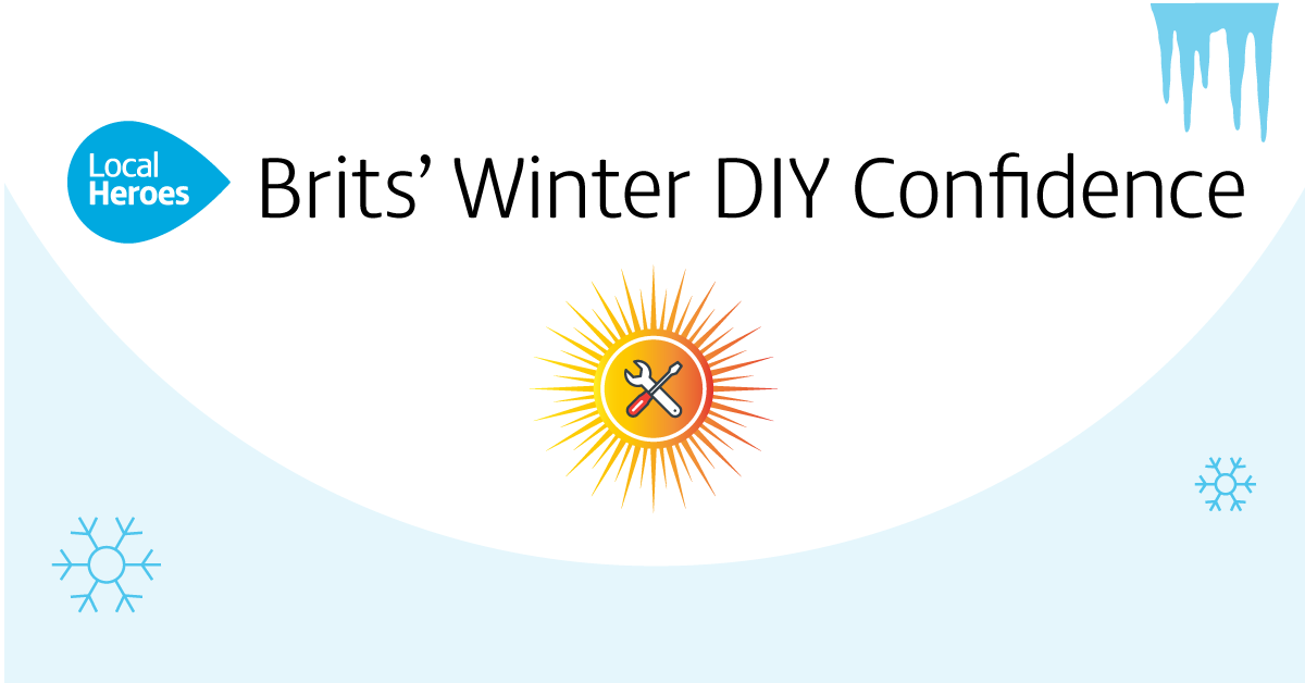 Local Heroes Infographic - Brits' Winter DIY Confidence